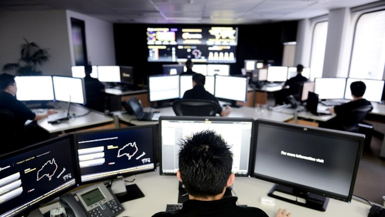 On the prowl: Symantec's Sydney Security Operations Centre.
