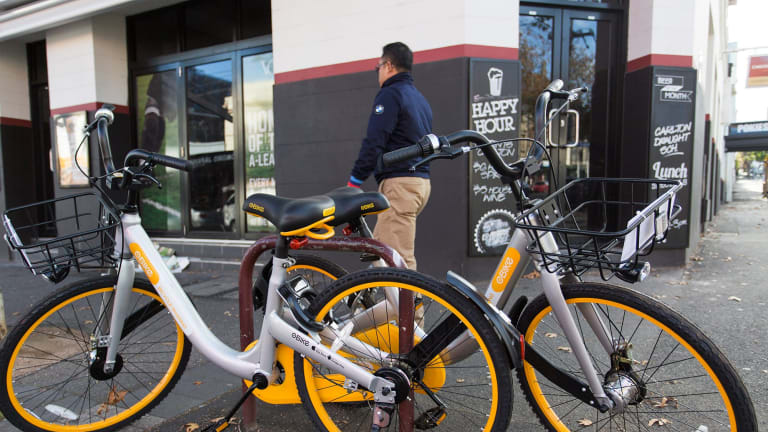 Richmond residents say the yellow bikes are clogging footpaths and bike racks.