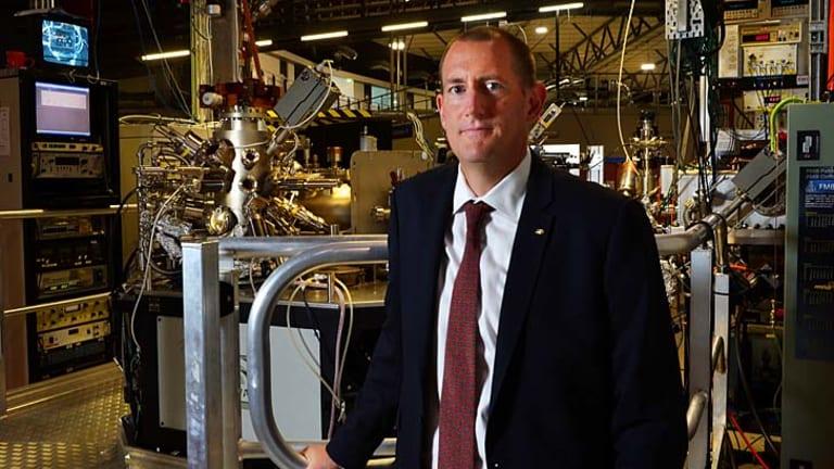 Hopeful: Professor Andrew Peele at the X-ray absorption spectroscopy beamline.