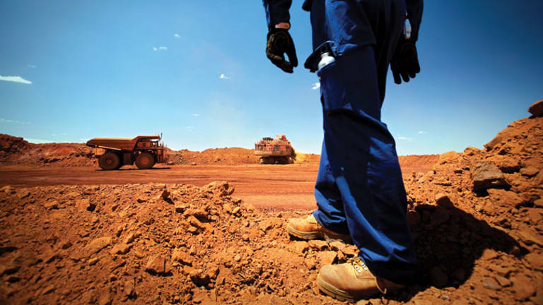 Bearing down: The price of iron ore has tumbled 22 per cent this year.