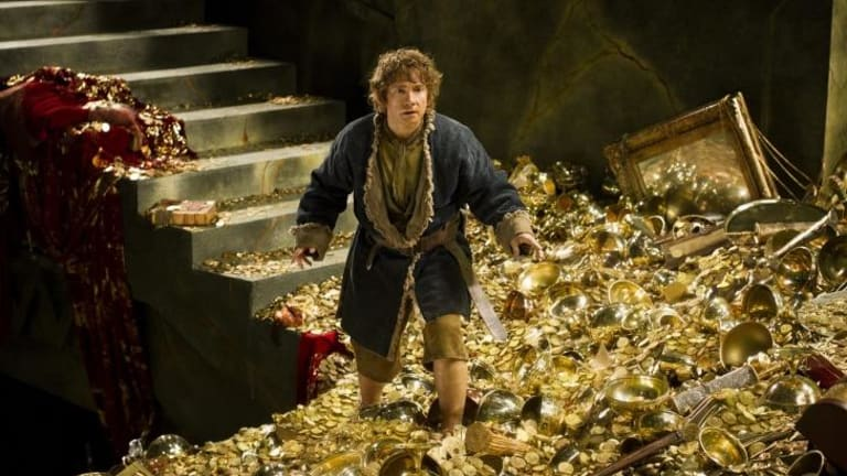 Martin Freeman plays Bilbo Baggins in <i>The Hobbit: The Battle of the Five Armies</i>.