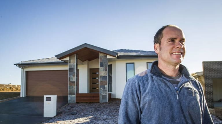 Builder, Bozidar Sostarko, has finished the first home to be completed in the new suburb of Wright.