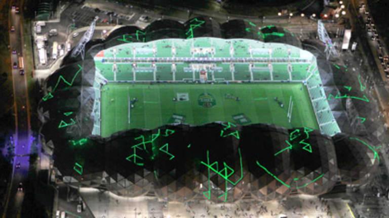 Melbourne's new rectangular stadium.