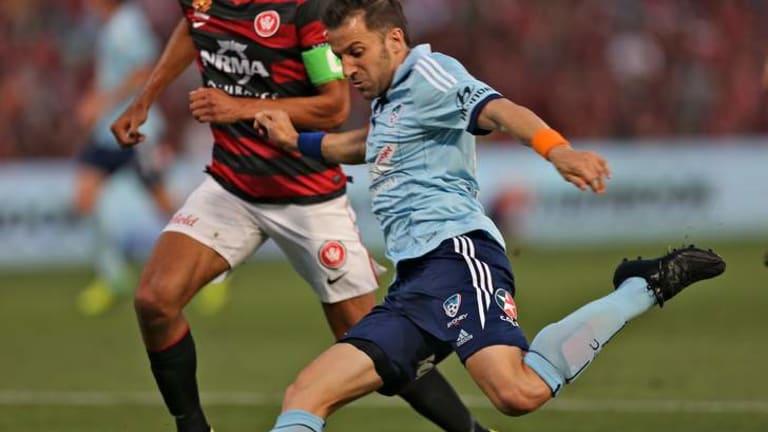 Alessandro Del Piero in action at Parramatta Stadium.