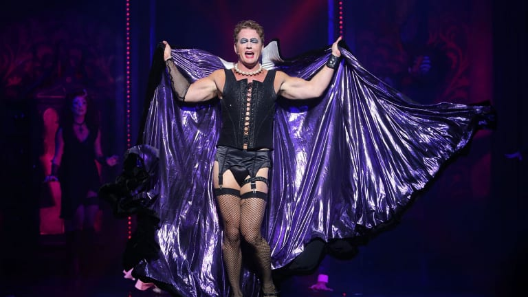 Craig McLachlan playing the role of Frank-N-Furter in The Rocky Horror Show in June 2015.