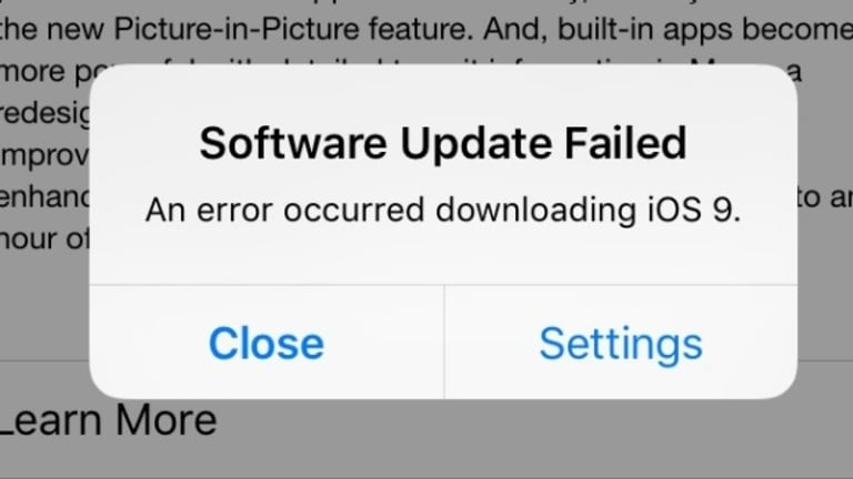 Users are having problems downloading iOS 9.