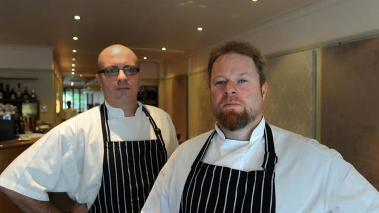 Chef Evan Speed, left, and chef and owner Owen Kenyon at Rubicon.