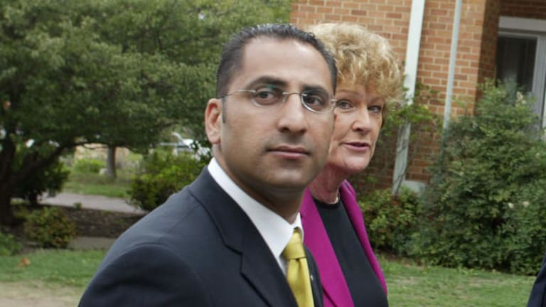 Joe Tannous, pictured in 2003 with Jillian Skinner, says he will retire from the Liberal Party state executive.