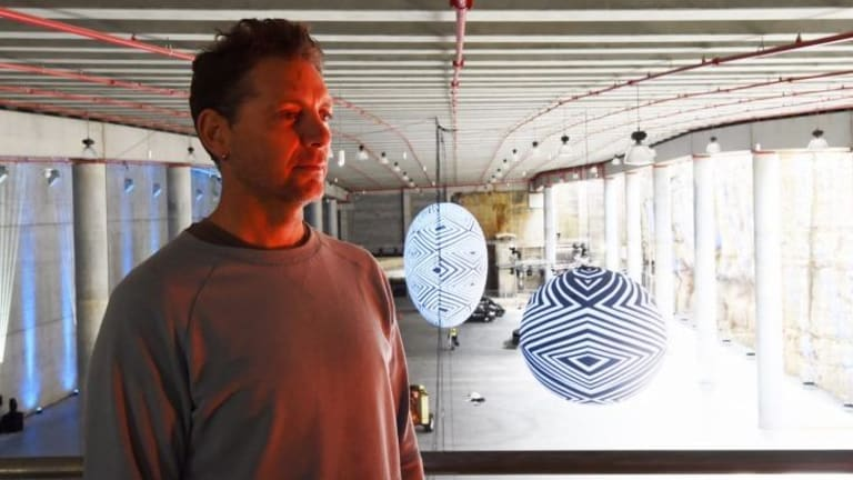 Artist Brook Andrew says the giant new performance and cultural space under Barangaroo Reserve is a bit like the belly of a whale.