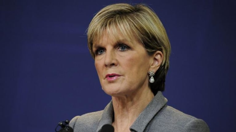 Foreign Minister Julie Bishop says the government is disturbed by the report's findings.