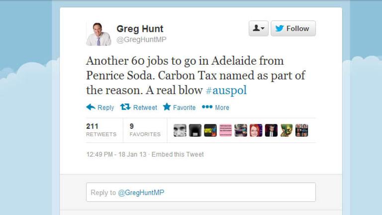 Hunt's tweet.