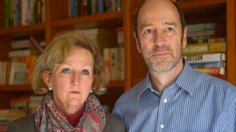 James Cross' parents Nicky Martin and Michael Cross.