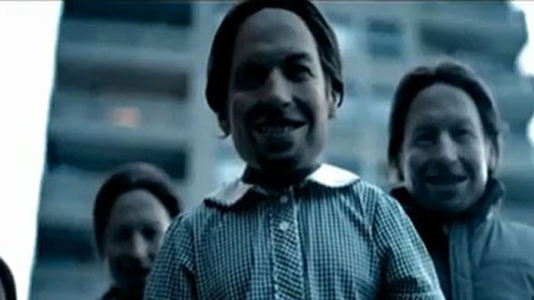 A scene from Aphex Twin's demonic clip Come to Daddy.