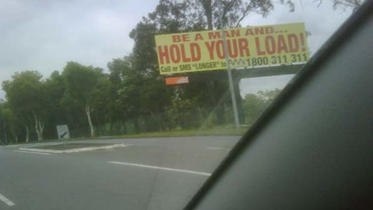 The Fairfield Road billboard at the centre of a controversy.