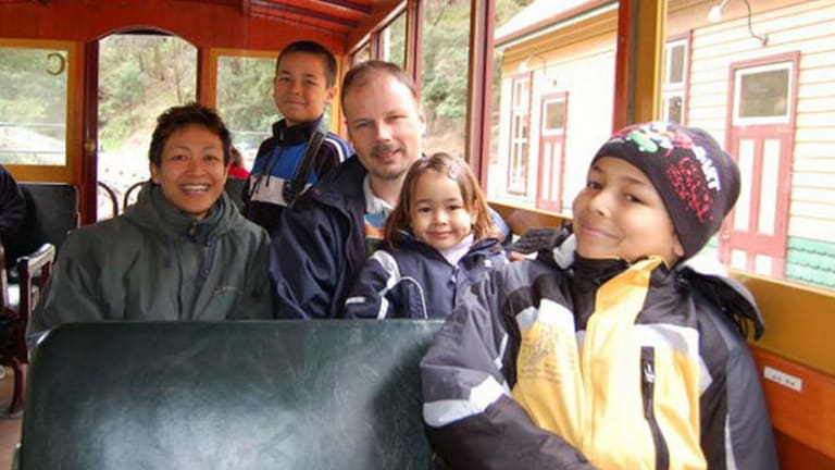 Hans van den Hende with wife Shaliza Dewa and children Piers, 15, Marnix, 12, and Margaux, 8, who perished on flight MH17. PHoto:Facebook