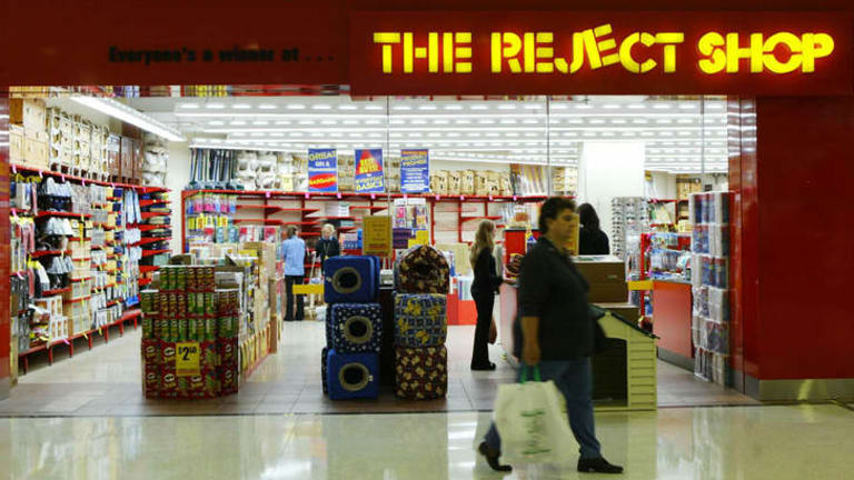 The Reject Shop says sales in May were hit by a drop in overall consumer confidence.