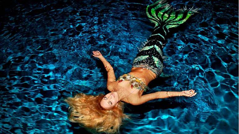 Fishy tail: World-travelling environmental activist and professional mermaid Hannah Fraser, known as Hannah Mermaid.