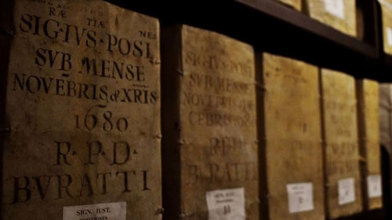 The Vatican's archives take up 80 kilometres of shelves.