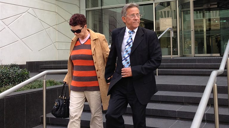 Wayne McKenna leaving court after being convicted of three charges.