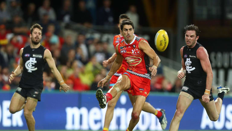 Matt Rosa will likely miss round 14 for a high hit on Dale Thomas in the Suns' loss to Carlton.
