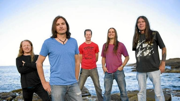Richie Lewis, second from left, says Tumbleweed are rapt to be back playing in Melbourne and writing new songs.