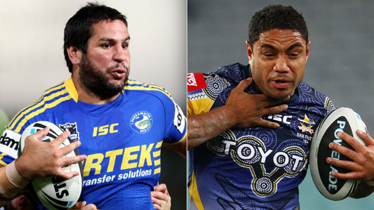Movement at Parramatta ... Carl Webb, left, is retiring while Willie Tonga is the club's new recruit.