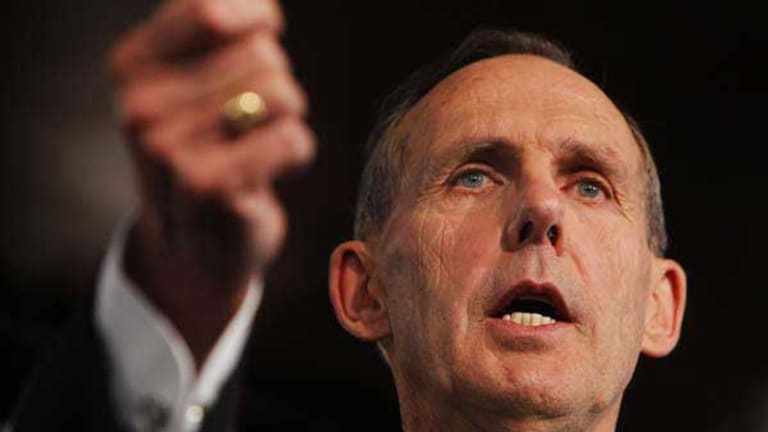 Bob Brown addresses the National Press Club in Canberra.
