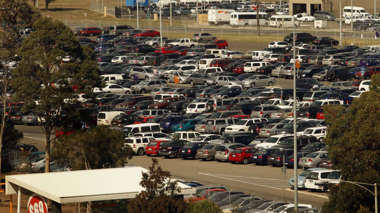 The long-term car park at Melbourne Airport has almost 14,000 paid parking bays.