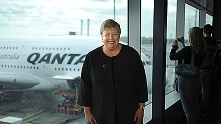 Victoria Police Chief Commissioner Christine Nixon at Melbourne Airport, before boarding the Qantas A380 on October 20.