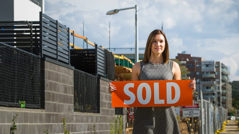 Tayla Shields has bought a townhouse in Denman Prospect ahead of declining apartment prices.