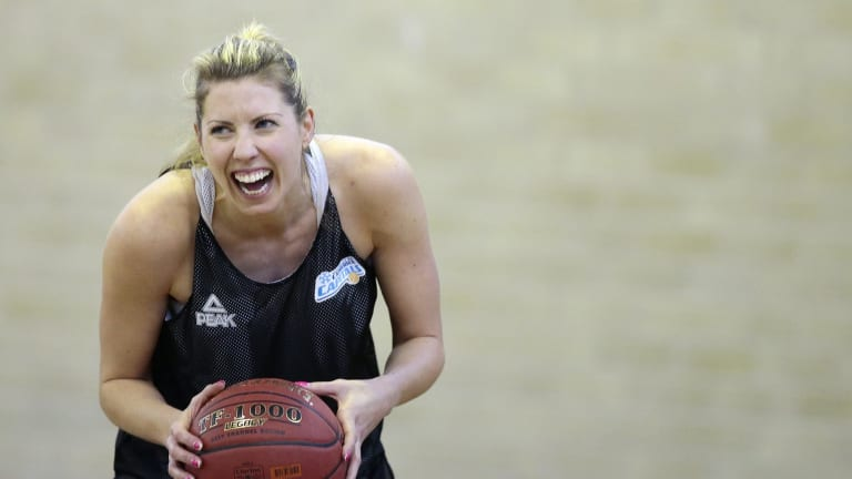 Carly Wilson gets a laugh out of training.