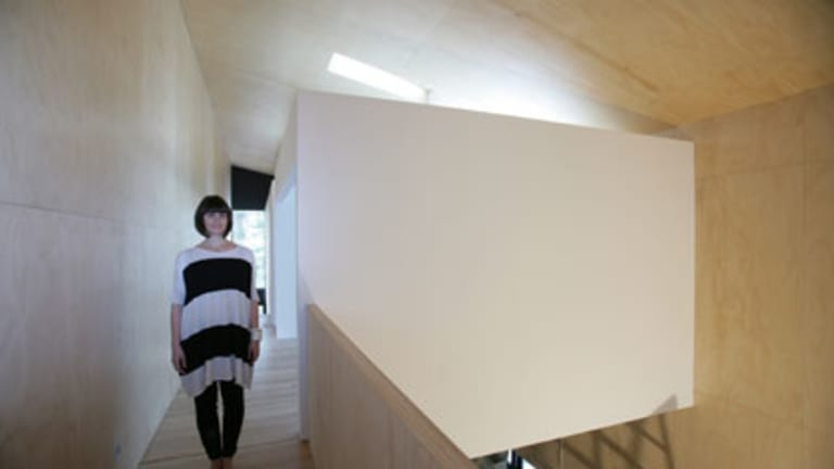 Sydney architect Hannah Tribe at her Rose Bay project.