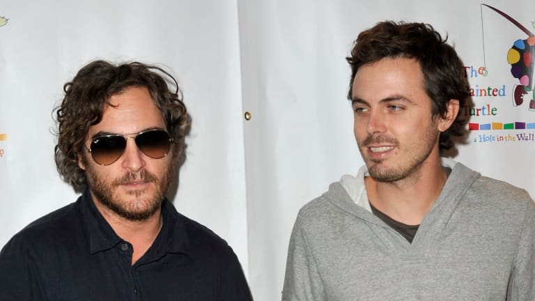 Affleck, right, with his brother-in-law Joaquin Phoenix in October 2008.