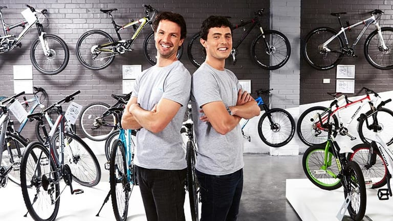 James van Rooyen and Jonathon Allara from Bicycles Online.
