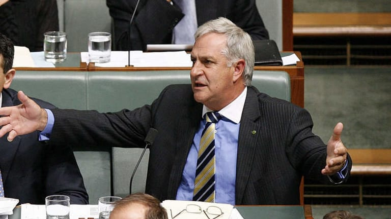 Liberal member for Canning, Don Randall, pictured during question time in 2009.