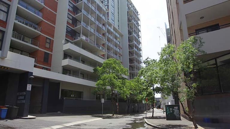 Student housing on the corner of Broadway and Wattle Street in Ultimo.
