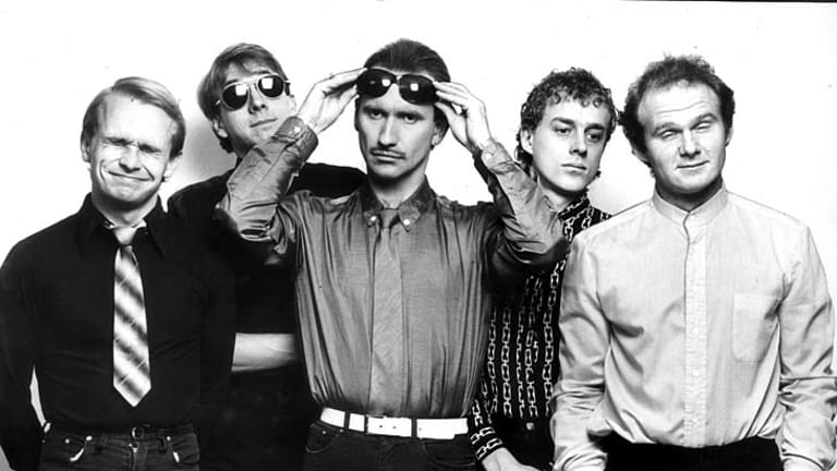 Men at Work in 1983: Greg Ham, John Rees, Colin Hay, Roy Strykert and Jerry Speiser.