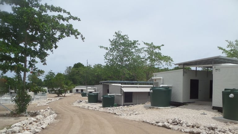 The detention centre on Nauru.