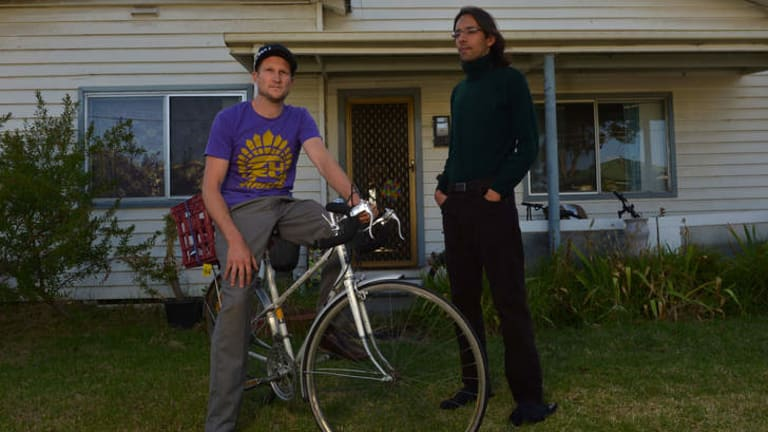 Under pressure: Jordan Lockett (left) and housemate Elton were forced from a cheaper property in Preston.