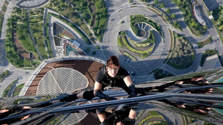 Tom Cruise in the latest <i>Mission: Impossible</i>.