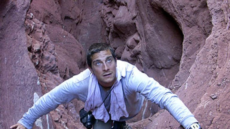 Man or mad? ... Bear Grylls admits he does get scared.