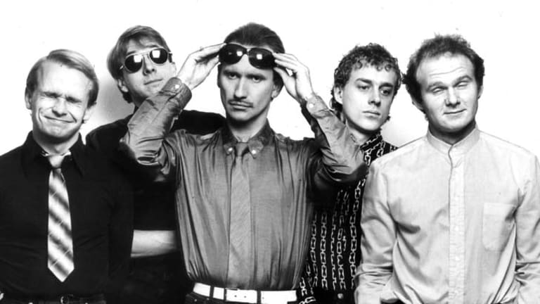 Men At Work at the height of the band's fame in 1983.