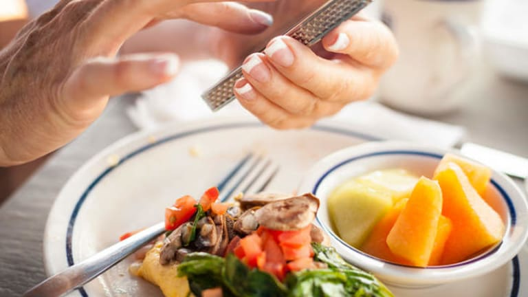 Life pangs: Avoiding distractions during meals is part of mindful eating.