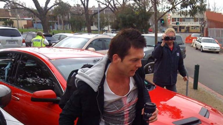 Ben Cousins arrives at Punt Road Oval ahead of his press conference.