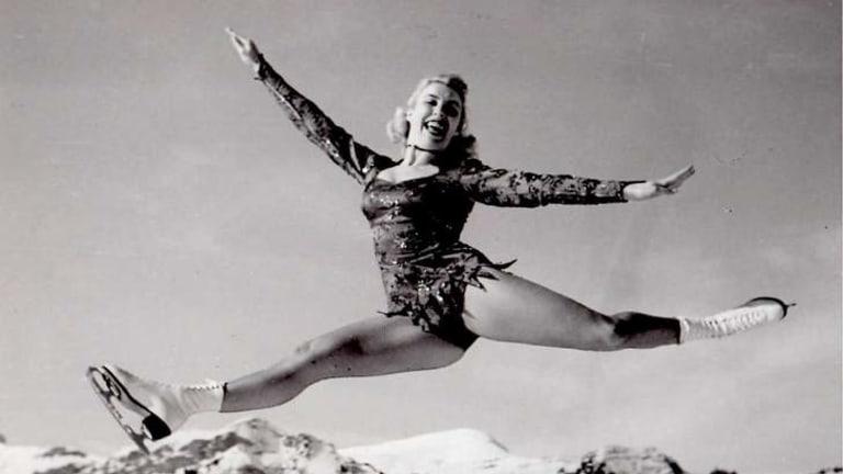 Ice skater Nancy Burley.