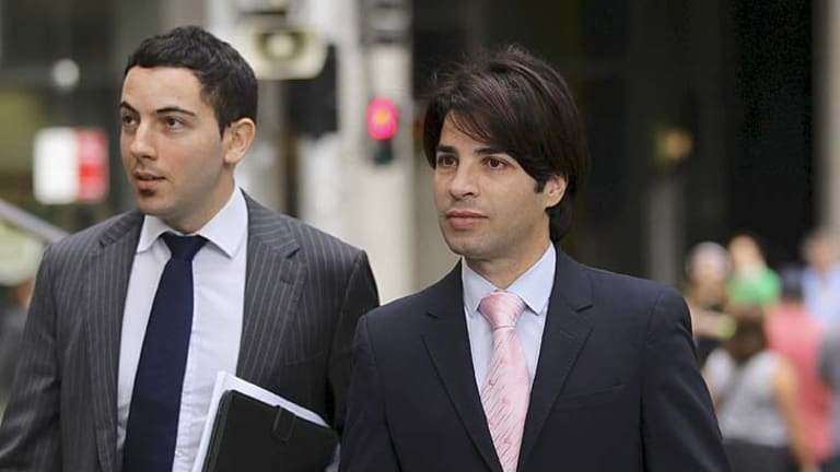 Reports ... Fadi Ibrahim, right, with his lawyer Nicholas Hana at the Downing Centre in April.