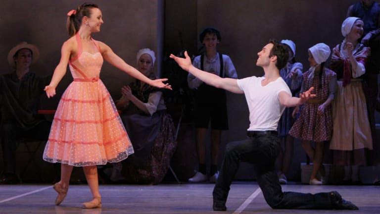 Sarah Hepburn and Sergey Pevnev play star-crossed lovers Lise and Colas.