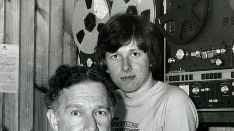 Succinct  ... Fred Blanks with his son Stephen in 2MBS's studio in 1981.