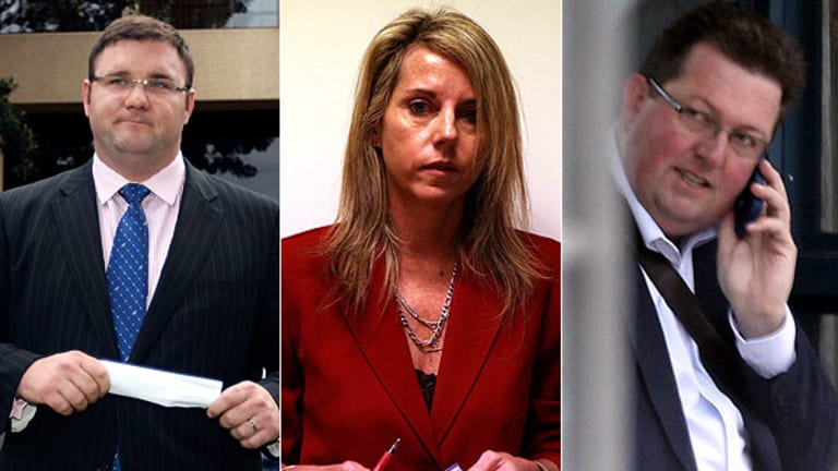 From left: Minister, Paul McLeay; Top lawyer, Tonette Kelly and; Land consultant, Andrew Kelly.