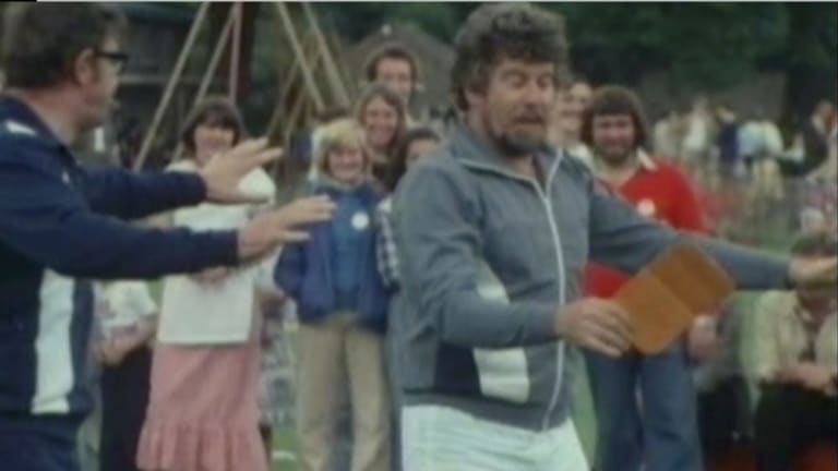 Television show Star Games, shot in Cambridge in 1978 and featuring Rolf Harris.